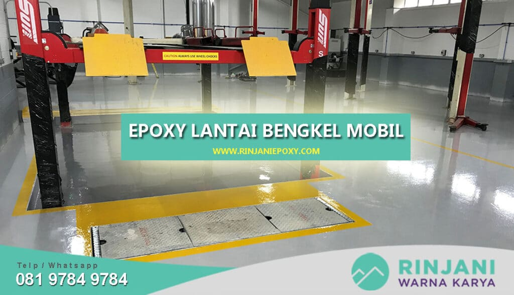 Epoxy Lantai Bengkel Mobil