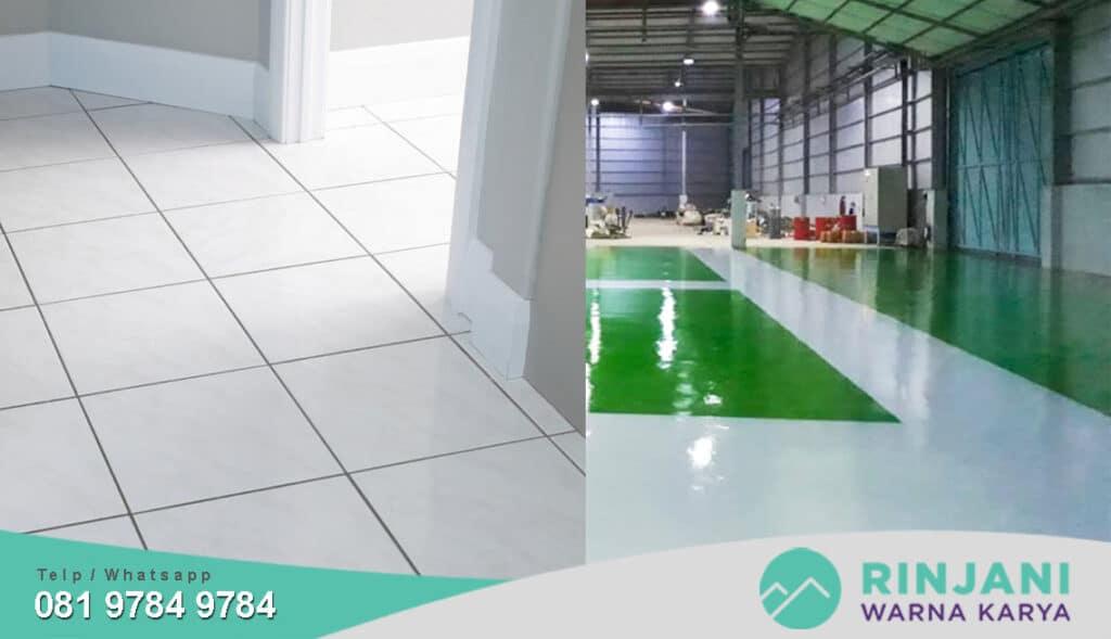 keunggulan epoxy lantai dibandingkan keramik